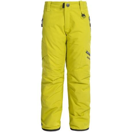 Boulder Gear Bolt Cargo Ski Pants - Insulated (For Boys) in Avocado