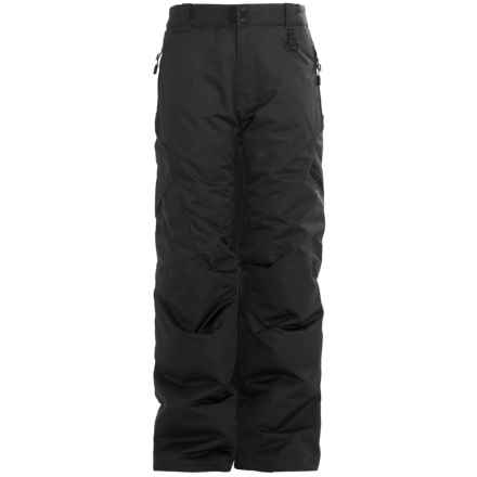Boulder Gear Bolt Cargo Ski Pants - Insulated (For Boys) in Black - Closeouts