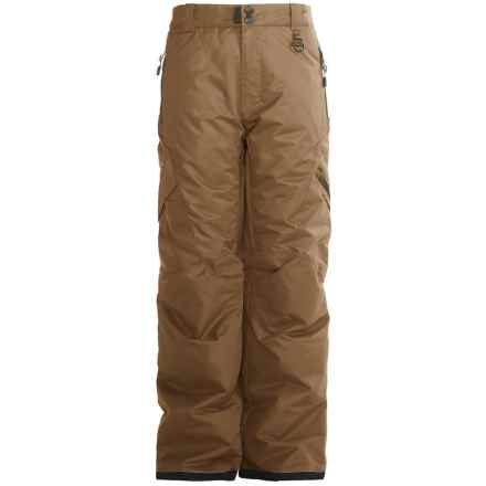 Boulder Gear Bolt Cargo Ski Pants - Insulated (For Boys) in Desert Tan - Closeouts