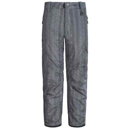 Boulder Gear Bolt Cargo Ski Pants - Insulated (For Boys) in Distressed Raven Print - Closeouts