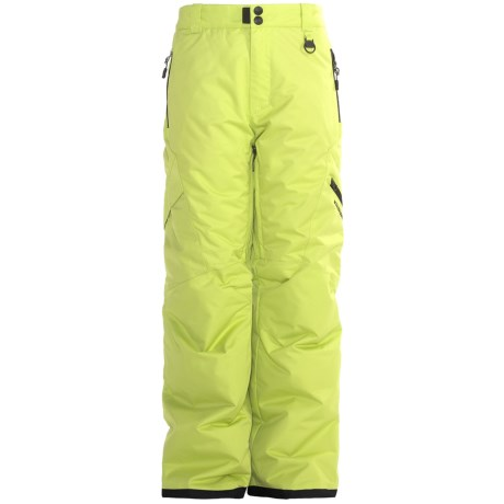 Boulder Gear Bolt Cargo Ski Pants - Insulated (For Boys) in Lime Citron