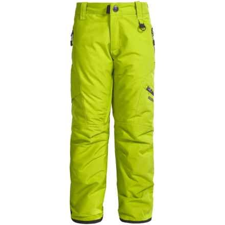 Boulder Gear Bolt Cargo Ski Pants - Insulated (For Boys) in Lime Green - Closeouts