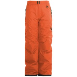 Boulder Gear Bolt Cargo Ski Pants - Insulated (For Boys) in Orange Spice