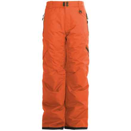 Boulder Gear Bolt Cargo Ski Pants - Insulated (For Boys) in Orange Spice - Closeouts