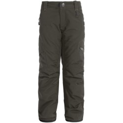 Boulder Gear Bolt Cargo Ski Pants - Insulated (For Boys) in Raven Gray