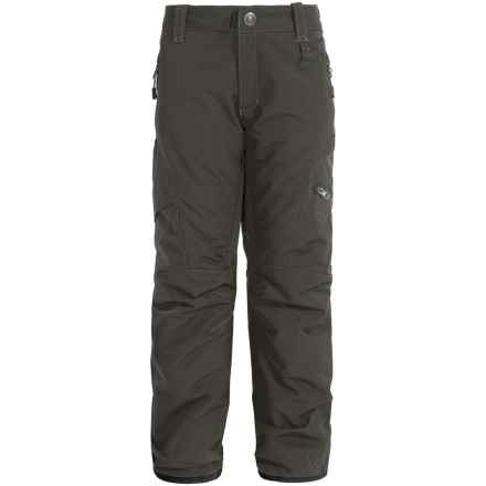 Boulder Gear Bolt Cargo Ski Pants - Insulated (For Boys) in Raven Gray - Closeouts
