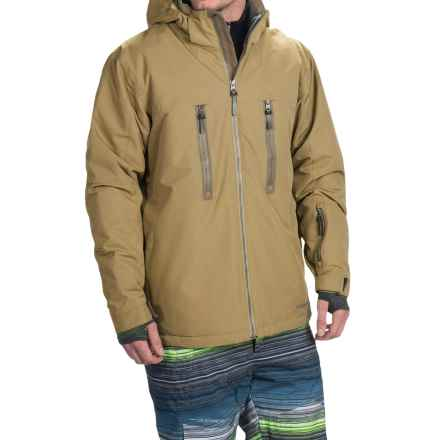 Boulder Gear Bond Ski Jacket - Waterproof, Insulated (For Men) in Tan Earth/Canteen - Closeouts