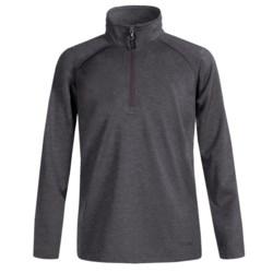 Boulder Gear Charger Pullover Fleece Jacket - Zip Neck (For Boys) in Black Heather