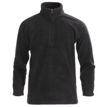 Boulder Gear Charger Pullover Fleece Jacket - Zip Neck (For Boys) in Black - Closeouts