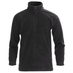 Boulder Gear Charger Pullover - Microfleece, Zip Neck (For Boys) in Black