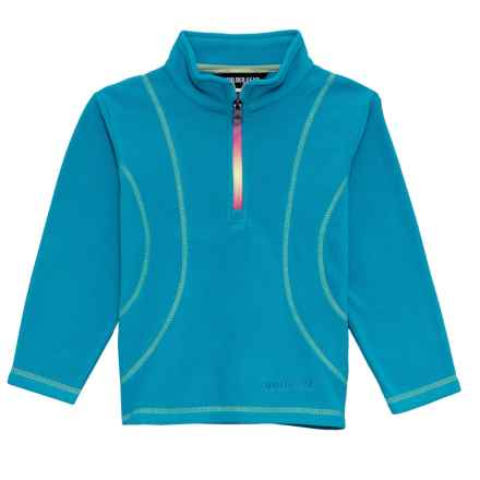 Boulder Gear Chloe Shirt - Zip Neck, Long Sleeve (For Little Girls) in Blue Waters - Closeouts