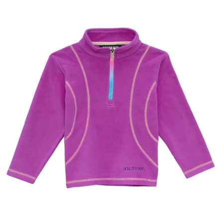 Boulder Gear Chloe Shirt - Zip Neck, Long Sleeve (For Little Girls) in Purple Cactus - Closeouts