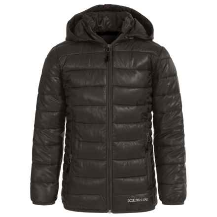 Boulder Gear D-Lite Puffer Jacket - Insulated (For Big Girls) in Black/Black - Closeouts