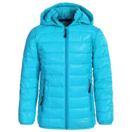 Boulder Gear D-Lite Puffer Jacket - Insulated (For Big Girls) in Blue Waters - Closeouts