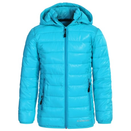 Boulder Gear D-Lite Puffer Jacket - Insulated (For Big Girls) in Blue Waters