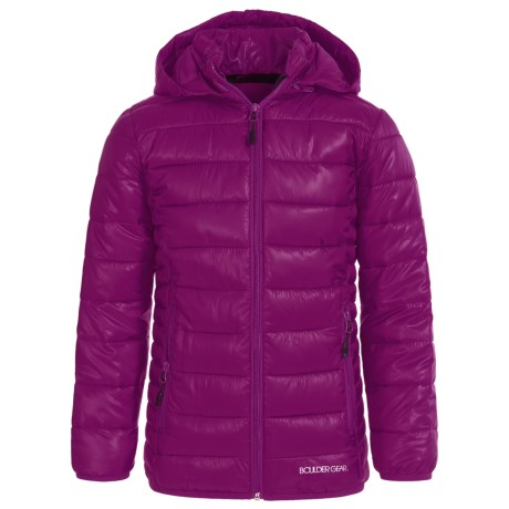 Boulder Gear D-Lite Puffer Jacket - Insulated (For Big Girls) in Maroon