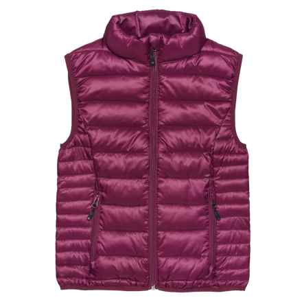 Boulder Gear D-Lite Puffer Vest - Insulated (For Big Girls) in Maroon - Closeouts