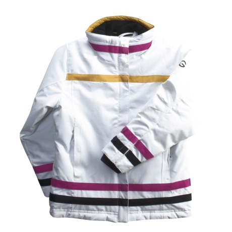 Boulder Gear Diamond Jacket - Insulated (For Girls) in White