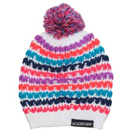 Boulder Gear Doodle Beanie (For Little Girls) in White - Closeouts