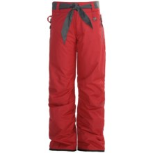 Boulder Gear Fly By Snow Pants - Insulated (For Girls) in Lipstick Red/Gray - Closeouts