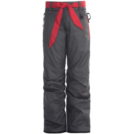 Boulder Gear Fly By Snow Pants - Insulated (For Girls) in Shadow Gray/Lipstick Red