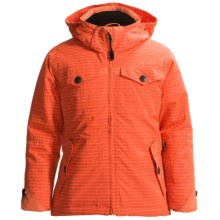 Boulder Gear Frankie Ski Jacket - Waterproof, Insulated (For Girls) in Coral Woven/Coral - Closeouts