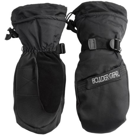 Boulder Gear Gear Board Snow Mittens - Waterproof, Insulated (For Men) in Black