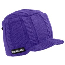 Boulder Gear Gem Beanie Hat - Billed (For Girls) in Violet - Closeouts