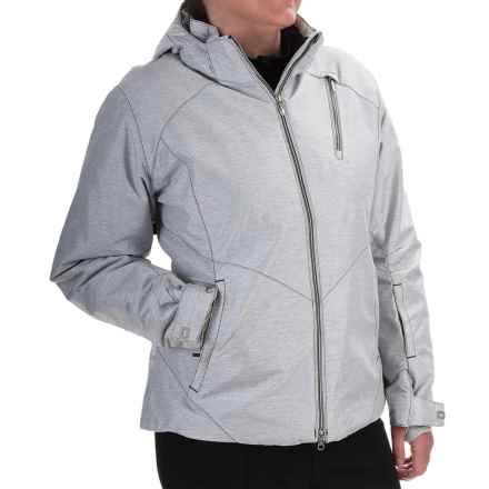 Boulder Gear Hepburn Snow Jacket - Waterproof, Insulated (For Women) in White-Black Texture - Closeouts