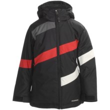 Boulder Gear Hot Cross Jacket - Insulated (For Girls) in Black/Cream/Lipstick Red - Closeouts