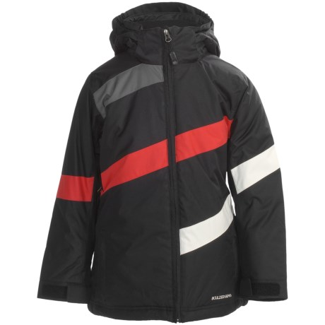 Boulder Gear Hot Cross Jacket - Insulated (For Girls) in Black/Cream/Lipstick Red