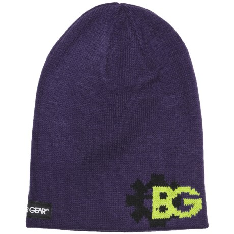 Boulder Gear Jacquard Beanie Hat (For Kids) in Purple Rain