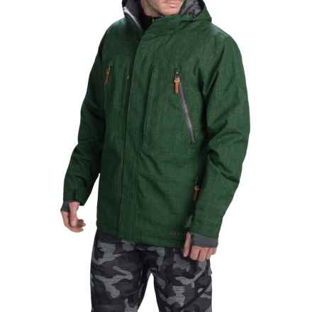 Boulder Gear Kent Ski Jacket - Waterproof, Insulated (For Men) in Cactus Texture/Gray Shadow - Closeouts