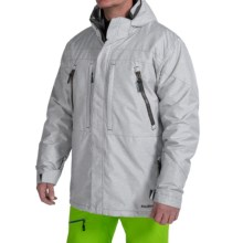 Boulder Gear Kent Ski Jacket - Waterproof, Insulated (For Men) in White-Black Texture/Gray - Closeouts