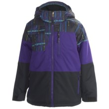 Boulder Gear Lava Jacket - Insulated (For Boys) in Black Plaid/Puple Reign/Black - Closeouts