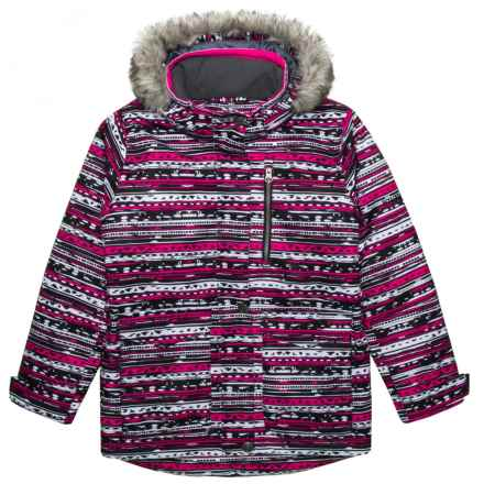 Boulder Gear Lou Lou Ski Jacket - Waterproof, Insulated (For Girls) in Pink Natty Print - Closeouts