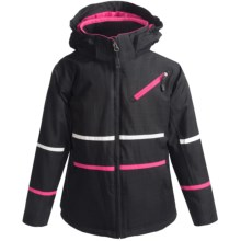 Boulder Gear Lucent Tech Jacket - Insulated (For Girls) in Black/Pink Shock - Closeouts