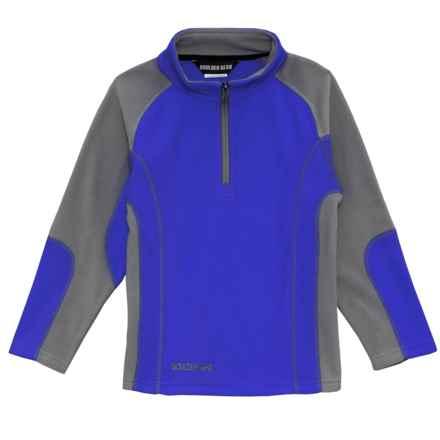 Boulder Gear Mason Shirt - Zip Neck, Long Sleeve (For Little Boys) in Royal Blue - Closeouts