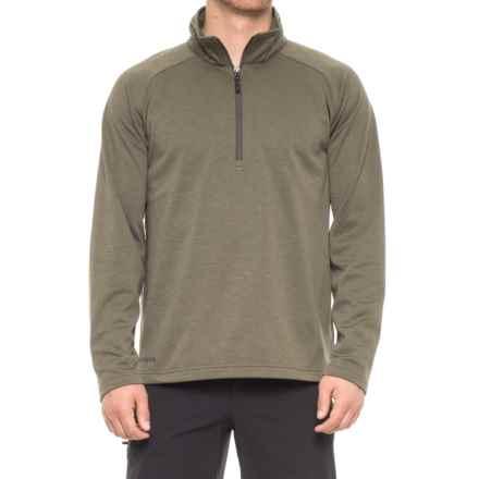 Boulder Gear Micro Zip Shirt - Long Sleeve (For Men) in Fatigue - Closeouts