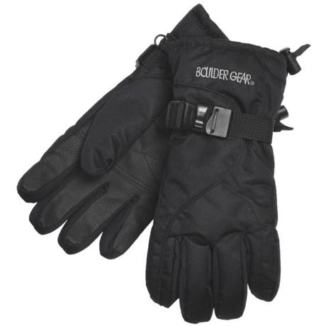 Boulder Gear Mogul II Gloves - Fleece Lined (For Kids) in Black