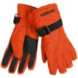 Boulder Gear Mogul II Gloves - Fleece Lined (For Kids) in Mango