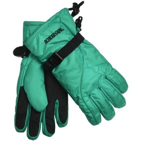 Boulder Gear Mogul II Gloves - Fleece Lined (For Kids) in Mystic Green