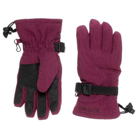 Boulder Gear Mogul II Gloves - Fleece Lined (For Little and Big Kids) in Maroon - Closeouts