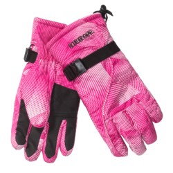 Boulder Gear Mogul II Gloves - Fleece Lined (For Little and Big Kids) in Pink Swirl Print