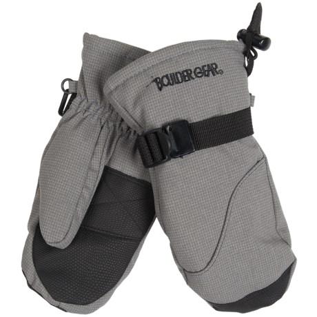 Boulder Gear Mogul II Mittens - Fleece Lined (For Kids) in Granite