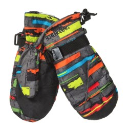Boulder Gear Mogul II Mittens - Fleece Lined (For Little and Big Kids) in Express Print