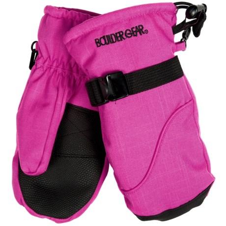 Boulder Gear Mogul II Mittens - Fleece Lined (For Little and Big Kids) in Pink Raspberry