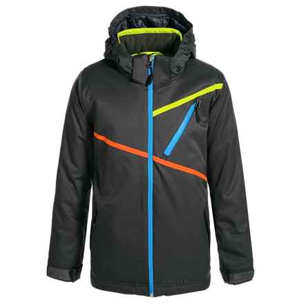 Boulder Gear Momentum Tech Jacket - Waterproof, Insulated (For Big Boys) in Raven Gray - Closeouts