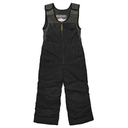 Boulder Gear Nestor Snow Bibs - Waterproof, Insulated (For Little Boys) in Black - Closeouts