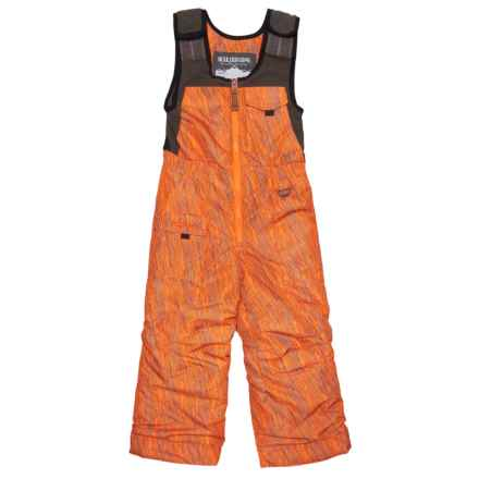 Boulder Gear Nestor Snow Bibs - Waterproof, Insulated (For Little Boys) in Orange Static Print - Closeouts